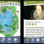 Two screenshots from an app about the Loch Leven Heritage Trail.