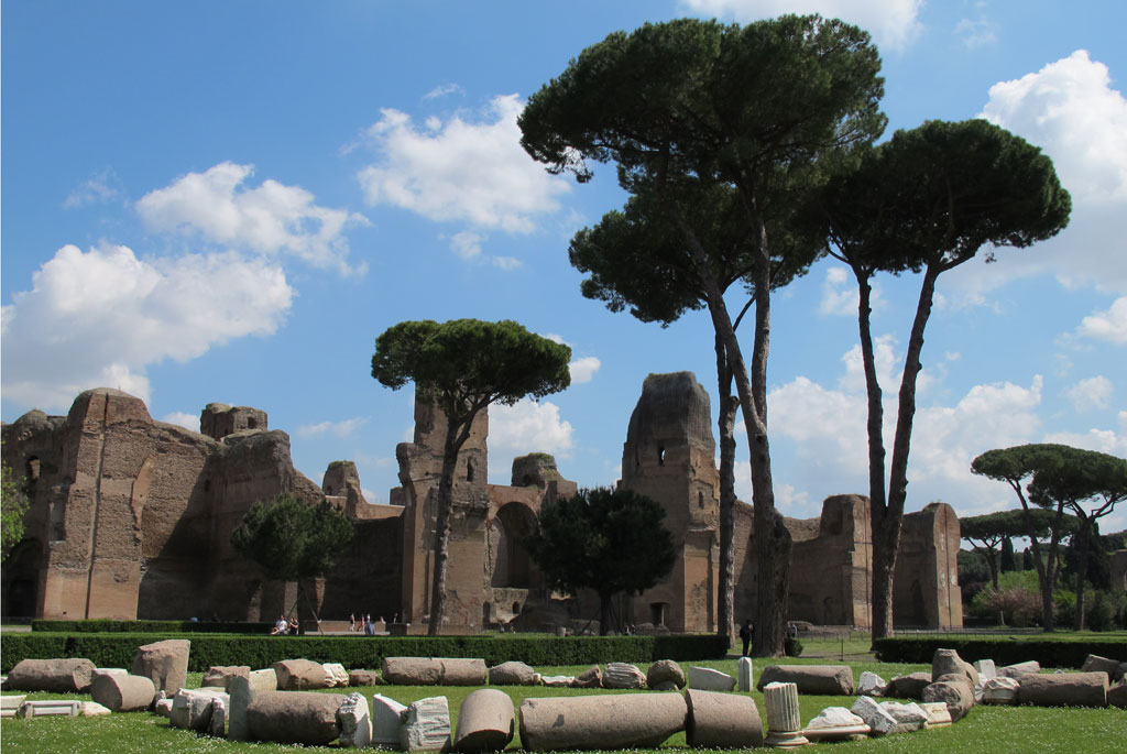 The Baths of Caracalla in Rome, site of a field exercise for the traning course at ICCROM.